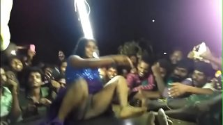 Indian naked dance on stage